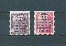 Spain 1950 – The Caudillo's visit to the Canary Islands – Edifil number 1088/1089