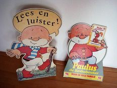 Jean Dulieu; Lot with 2 shop displays of Paulus de Boskabouter - 1980s / 1990s