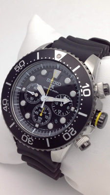 Seiko - Solar Diver's 200m Chronograph – Men's wristwatch