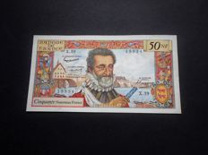 France - 50 New Francs from 1959 - Henri IV - 5/11/1959.E - Fayette 58.4