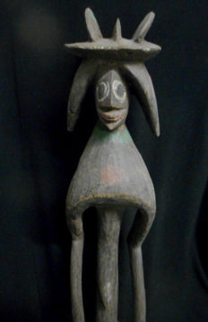 Large stocky wooden figurine - MUMUYE - Nigeria