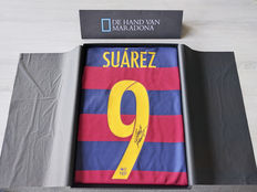 Luis Suárez personally signed FC Barcelona 2015/16 shirt in deluxe packaging + official COA