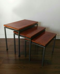 Designer unknown – vintage mid-century modern side table set