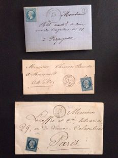 France, 1860, Collection of classic letters.