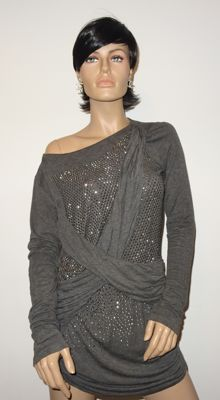 Elisabetta Franchi Gold Label – Unusual short dress or tunic, draped and with studs, no reserve