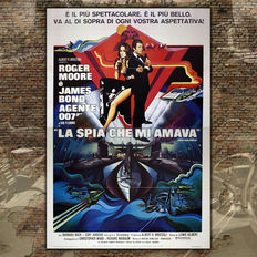 Original Film Poster 007 James Bond The Spy Who Loved Me - Roger Moore - Size: 140x200 CM