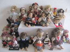 "Lot of 39 unique dolls ""from all over Europe"""