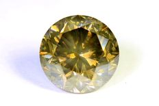 Diamond – 1.53 ct Fancy Dark Greenish Yellow – SI2 – No reserve