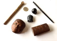 Lot of 5 objects – Japan – 19th to early 20th century (Meiji era)