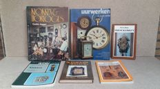 Literature; lot of 6 books about clocks – 1970/1982