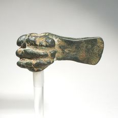 Luristan miniature axe, bronze L. 54 mm