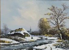 Not clearly signed (20th century) - Winter landschap