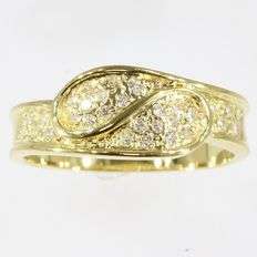 "0,40ct G-H VS-SI diamond ring ""toi ët moi - 18kt gold - Size 59"