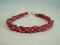 5-row ruby bracelet 80ct. in twisted design circa 1955/60