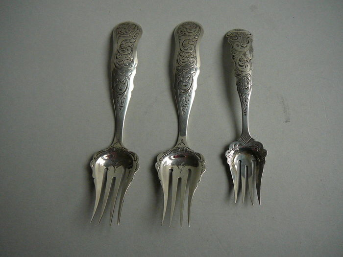 Silver serving cutlery, Netherlands, 1854/1857