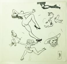 "Bernet, Jordi - original drawing - ""Pin-up Sketch"""