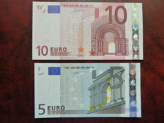 European Union - France - 5 and 10 euro from 2002 - Duisenberg