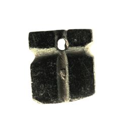 Amulet seal, 2 x cross, steatite - h = 15.9mm