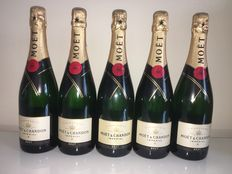 Champagne Moët Chandon Imperial Brut - 5 bottles