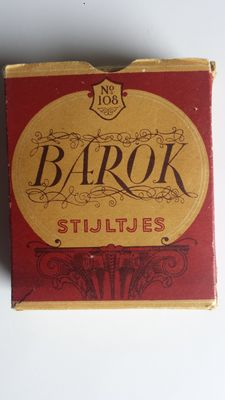 """Barok Stijltjes"" box with surrogate cigars from WW II"
