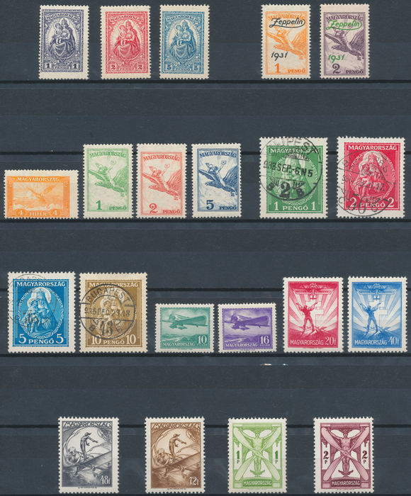 Hungary 1925 1958 Selection Stamps Series And Blocks