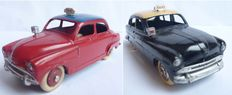Dinky Toys-France - Scale 1/43 - Simca 9 Aronde Taxi No.24ut and Ford Vedette No.24xt