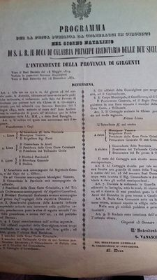Ferdinand II, Kingdom of the two Sicilies - Programme of January 13 - 1855
