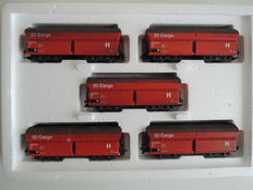 Märklin H0 - 4624.001 - 5-piece set of high-capacity hopper cars of the DB Cargo, in (factory-delivered) weathered condition
