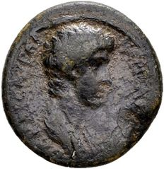 Roman Empire – Nero (54-68 A.D.) AE 16 mm (2.53 g), minted under Claudius (50-54 A.D.) in Lydia, Thyatira