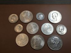 Europe - Lot of 11 coins (Belgium, Germany, Spain, Serbia, Romania) 1885-1992 - Silver