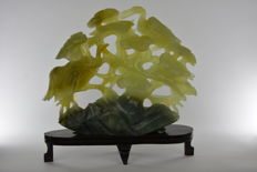 Decorative group in jade - China - second half of the 20th century.