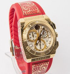 Savoy Icon Light Red C3308E.01H.RJ21 – Swiss Made – women's chronograph wristwatch – New