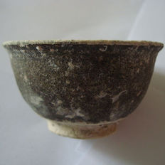 Chinese brown glazed wine cup - 70 mm
