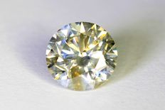 Diamond – 1.02 ct – Fancy Greenish Yellow – No reserve
