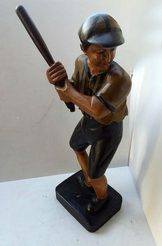 Wooden baseball player, second half 20th century