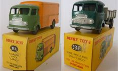 Dinky Toys-France - Scale 1/48 - Van Simca Cargo No.33a and tilting dumper Simca Cargo No.33b