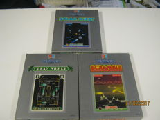 3 Vectrex games boxed.