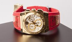 Savoy Icon Light Red C3308E.01H.RJ21 – Swiss Made – women's chronograph wristwach – New
