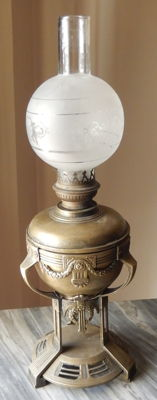 Brass light, late 19th - early 20th century Brenner Kosmos Berlin