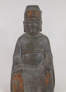 Bronze sculpture of a sage - China - 20th century.