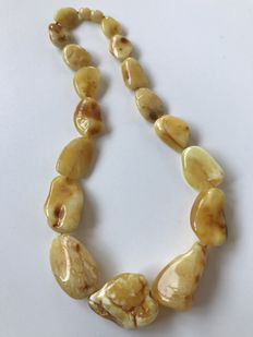 Genuine Baltic Amber necklace, 44 gr. No Reserve