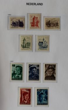 The Netherlands 1945/1969 – Collection in Davo album, with Phosphor Series 618b/634b and Amphilex sheetlets