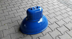 Predom-Mesko - industrial light Model UORP-250, fully restored blue