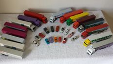 Herpa o.a. H0 - 15 cars, 11 tractors, 16 trailers