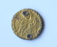 Medieval Psuedo Gold coin used as Protection by Christians in the 10th century - 17mm