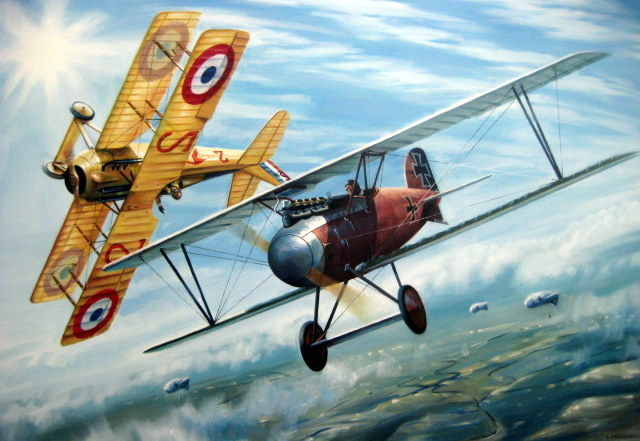 Ernst Udet and Georges Guynemer - Albatros DIII/Spad VII - WW 1 (Great Moments in Aviation)