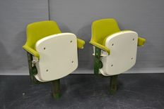 Designer unknown - 2 vintage cinema / theatre chairs.