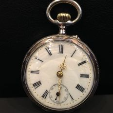 Galonne silver pocket watch