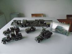 France Jouet (FJ) - Scale 1/55 - Very rare lot of 7 military vehicles