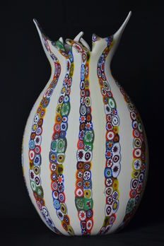 Mario Costantini - Large vase with murrine